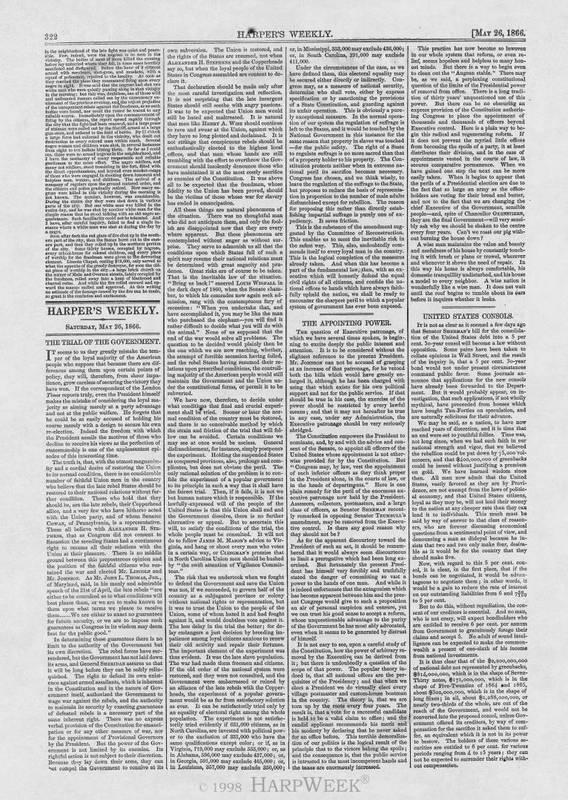 """THE TRIAL OF THE GOVERNMENT,"" May 26, 1866"