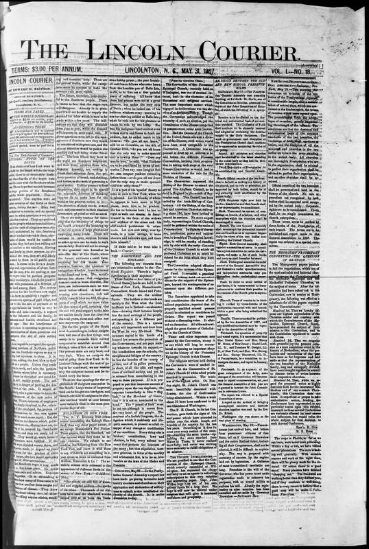 """""""Editorial Notes on the South,"""" May 31, 1867"""