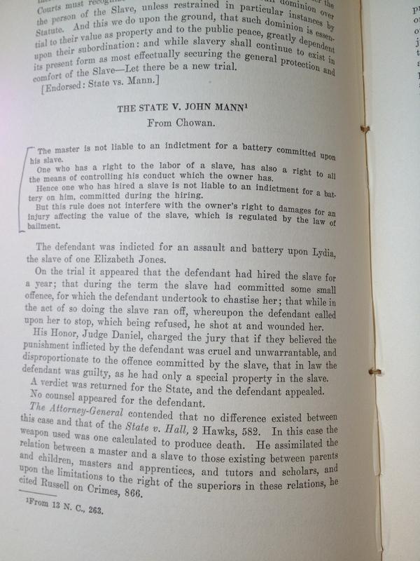 <em>State v. Mann</em> (1829)
