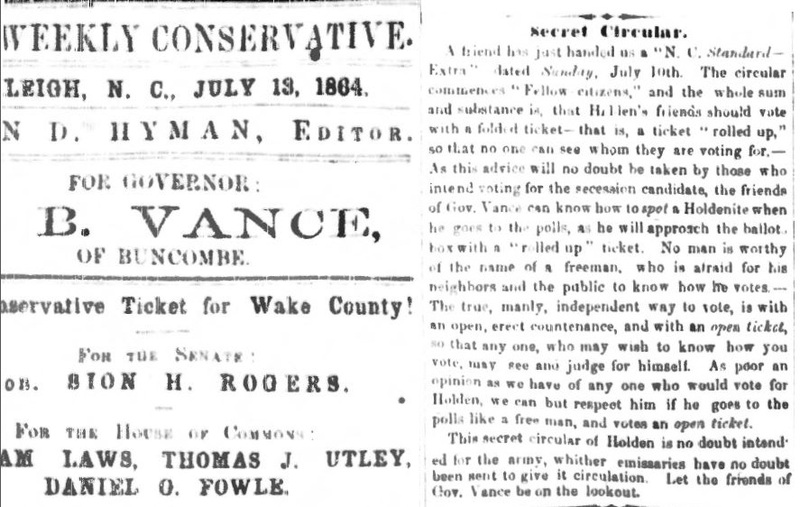 """Secret Circular,"" July 13, 1864"