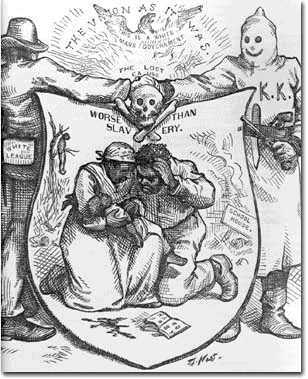 Ku Klux Klan cartoon from 1860s