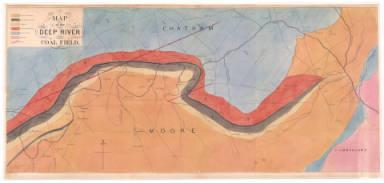 Ebenezer Emmons, Map of the Deep River Coal Field, 1856