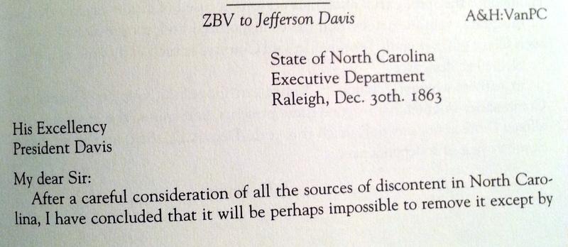 Zebulon Baird Vance to Jefferson Davis, December 30, 1863