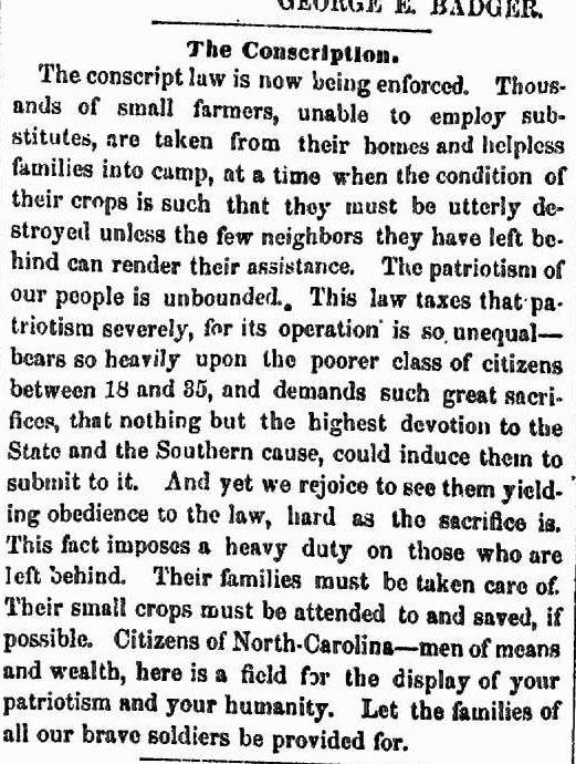 """""""The Conscription,"""" July 23, 1862"""