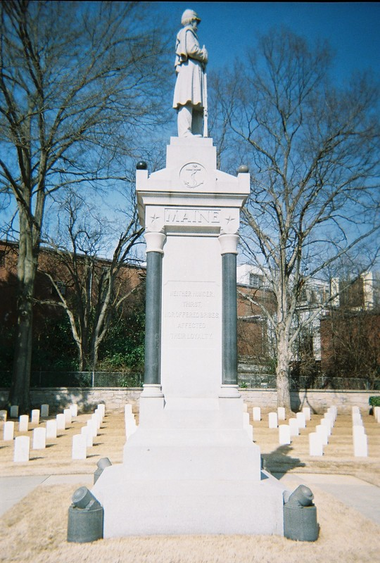 Maine Monument, Salisbury National Cemetery