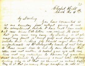 Letter from John W. Halliburton to Juliet Halliburton, March 6, [1861]