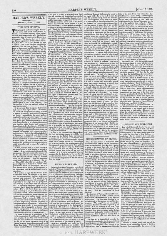 """Reorganization of States,"" June 17, 1865"
