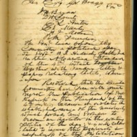 Minutes of the Executive Committee Resolutions Regarding Benjamin S. Hedrick's Actions, October 11, 1856, Page 1