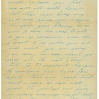 A letter written from Catherine Ramsey to John Futch.<br />