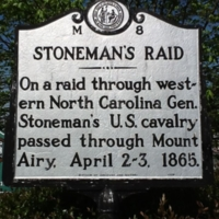 Stoneman's Raid Marker at Mt. Airy