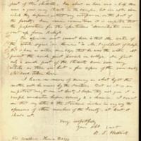 Benjamin Sherwood Hedrick to Governor Thomas Bragg , October 6, 1856, Page 3