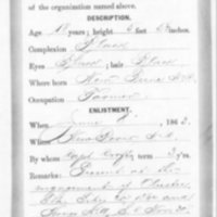 Civil War Service Record of Charles Jones, 1863