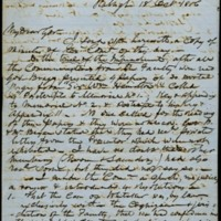 Letter from Charles Manly to David L. Swain, October 18, 1856, Page 1