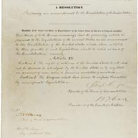 The House Joint Resolution proposing the 15th amendment to the Constitution, December 7, 1868