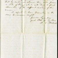 Letter from Benjamin S. Hedrick to his wife Mary Ellen Hedrick, October, 22 1856, Page 3
