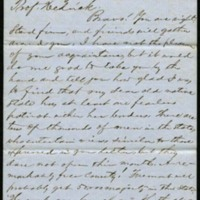 Letter from Hinton R. Helper to Benjamin S. Hedrick, October 15, 1856, Page 1