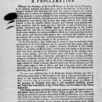"""Proclamation of Amnesty and Reconstruction,"" May 29, 1865"