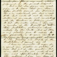 Letter from M.S. Sherwood to His Nephew Benjamin S. Hedrick, August 20, 1856, Page 2