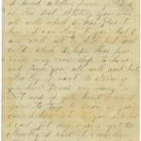 A letter written from John Futch to his wife Martha<br />