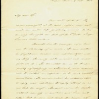 Letter from David L. Swain to [Charles Manly], October 7, 1856, Page 1