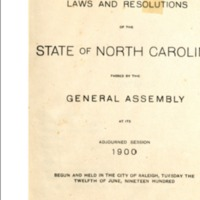 Laws and Resolutions of the State of North Carolina General Assembly 1900.PNG