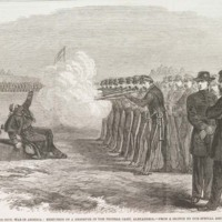 Untitled article on the execution of a Union soldier, <em>New York Tribune</em>, ca. 1865