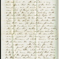 Letter from Benjamin S. Hedrick to his wife Mary Ellen Hedrick, October, 22 1856, Page 2
