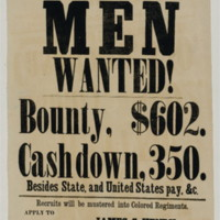 "Recruitment Poster for ""Color'd Men"", 1863"