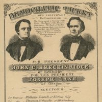 North Carolinian voters chose John C. Breckinridge in presidential election, November 6, 1860