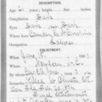 Civil War Service Record of Julian Williams, 1863