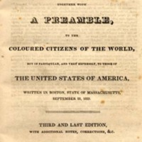 Walker&#039;s Appeal, in Four Articles; Together with a Preamble, <br />