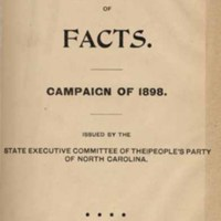 <p><em>People's Party Hand-Book of Facts. Campaign of 1898.</em></p>