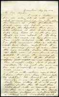 Letter from M.S. Sherwood to his Nephew Benjamin S. Hendrick, August 20, 1856, Page 1