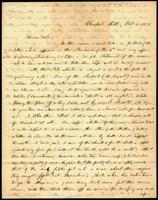 Benjamin Sherwood Hedrick to Governor Thomas Bragg, October 6, 1856, Page 1