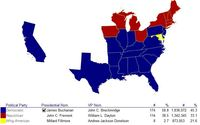 1856 Presidential Election Map